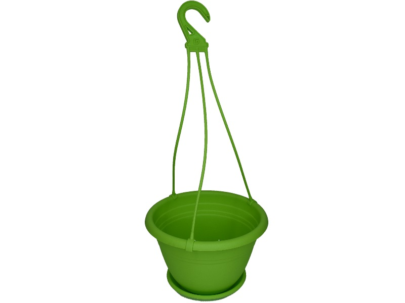 "Blumenampel ""Color"" aus Kunststoff   (Ø 25 cm, Farbe Apfelgrün)"