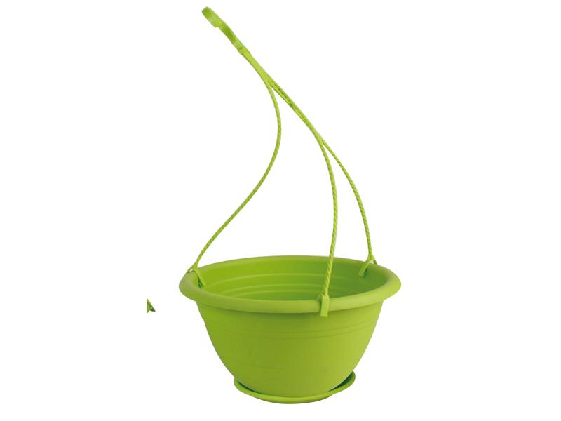 "Blumenampel ""Color"" aus Kunststoff   (Ø 30 cm, Farbe Apfelgrün)"