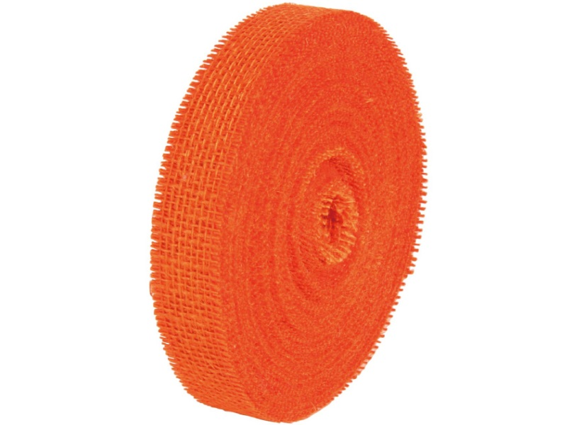 40 m Juteband Dekoband Bastelband - Breite 30 mm (Orange)
