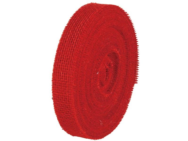 40 m Juteband Dekoband Bastelband - Breite 30 mm (Rot)