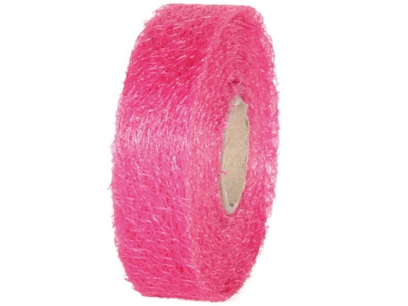 "Qualitäts-Dekoband ""Ragnatela"" Schleifenband 25mm x 25m, Farbe Farbe Pink"