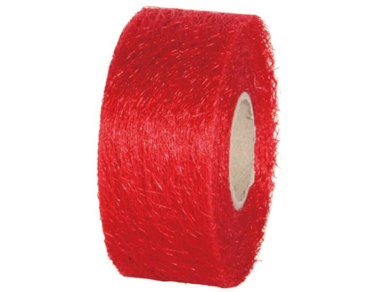 "Qualitäts-Dekoband ""Ragnatela"" Schleifenband 40mm x 25m, Farbe Farbe Rot"