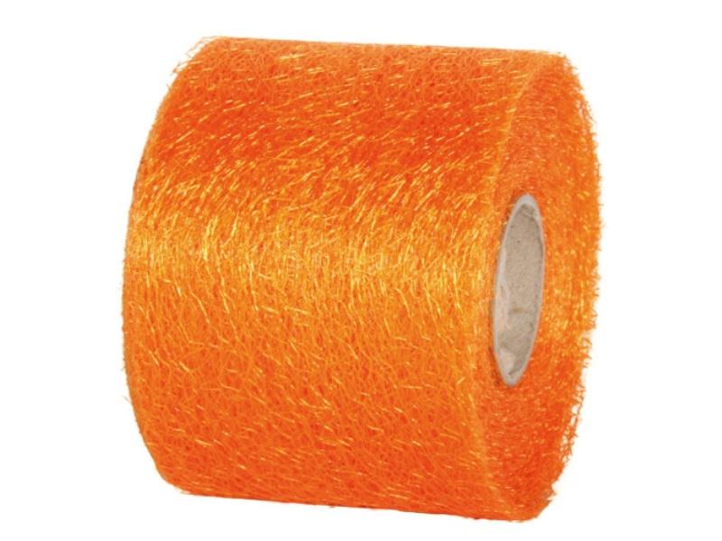 "Qualitäts-Dekoband ""Ragnatela"" Schleifenband 70mm x 25m, Farbe Farbe Orange"