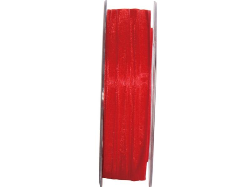 Dekoband Beauty-Organdy Schleifenband 7mm x 50m, Farbe Farbe Rot