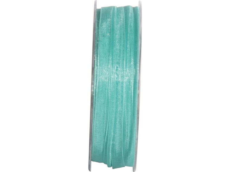 Dekoband Beauty-Organdy Schleifenband 7mm x 50m, Farbe Farbe Türkis