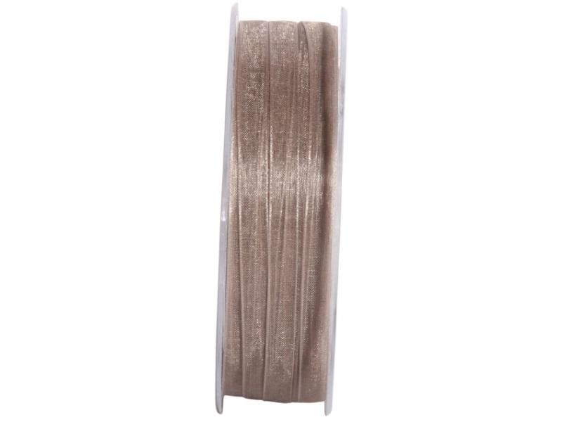 Dekoband Beauty-Organdy Schleifenband 7mm x 50m, Farbe Farbe Grau