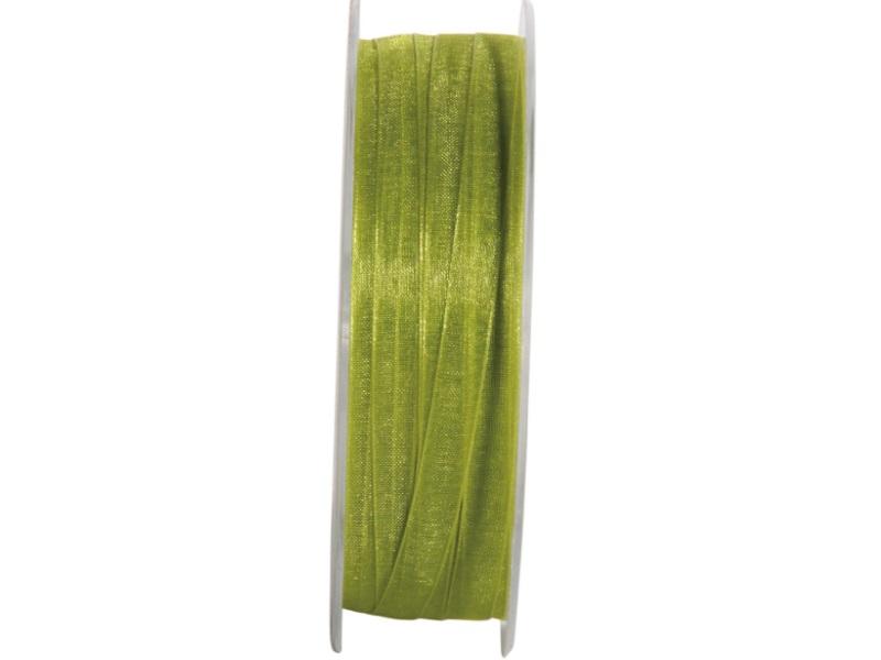 Dekoband Beauty-Organdy Schleifenband 7mm x 50m, Farbe Farbe Grün