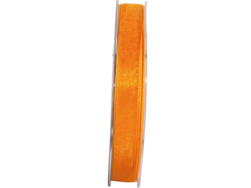 Dekoband Beauty-Organdy 15mm x 50m , Farbe Leucht-Orange