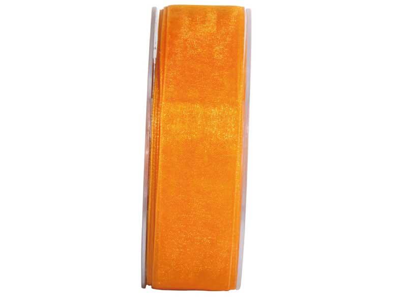 Dekoband Beauty-Organdy 25mm x 50m , Farbe Leucht-Orange