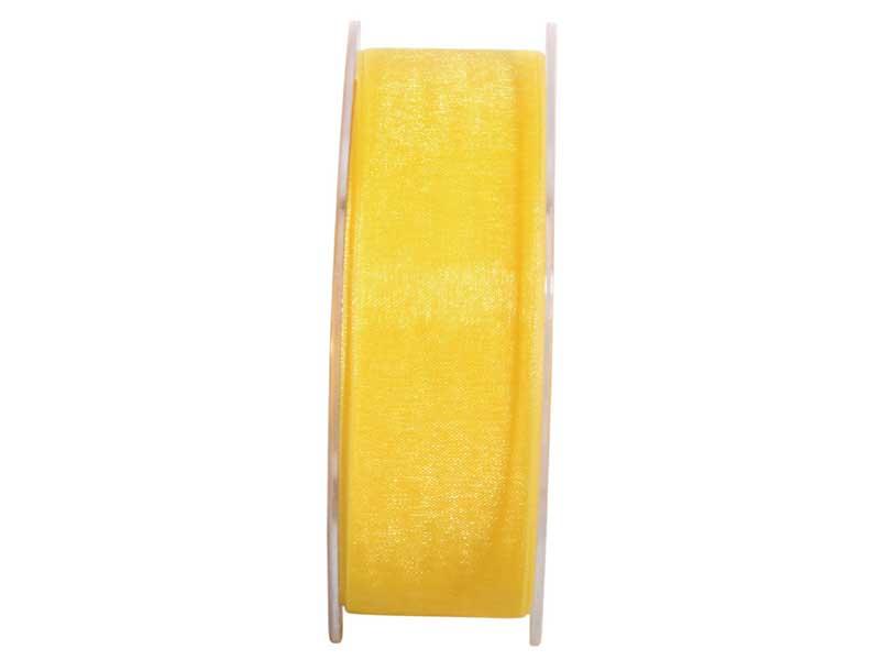 Dekoband Beauty-Organdy 25mm x 50m , Farbe Gelb