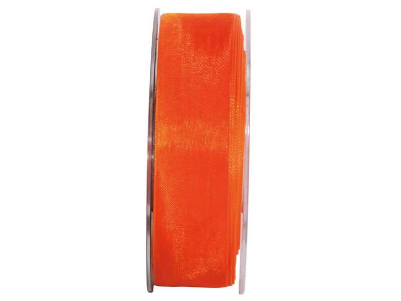 Dekoband Beauty-Organdy 25mm x 50m , Farbe Orange