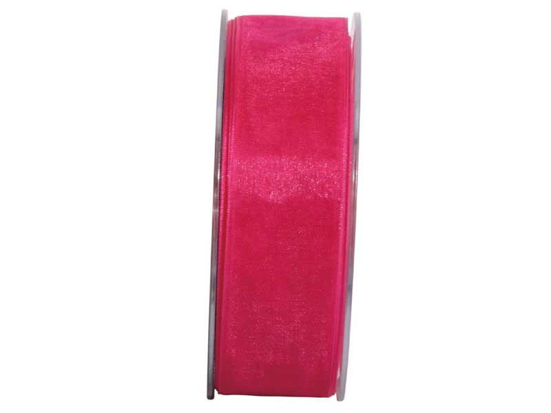 Dekoband Beauty-Organdy 25mm x 50m , Farbe Pink