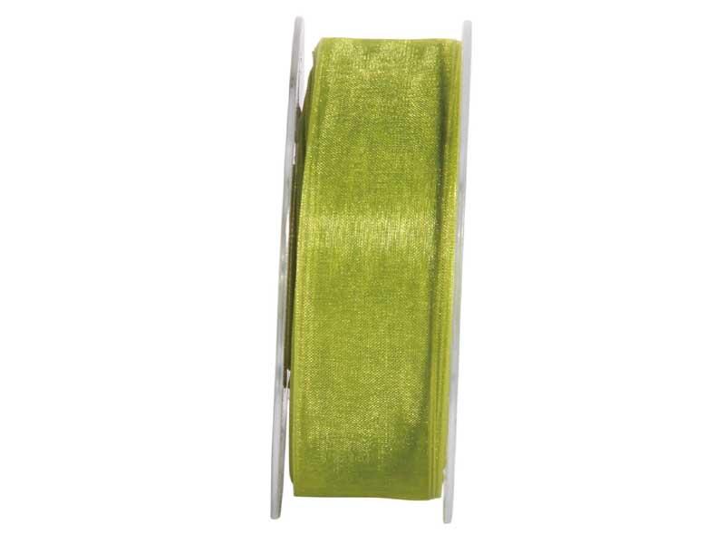 Dekoband Beauty-Organdy 25mm x 50m , Farbe Grün