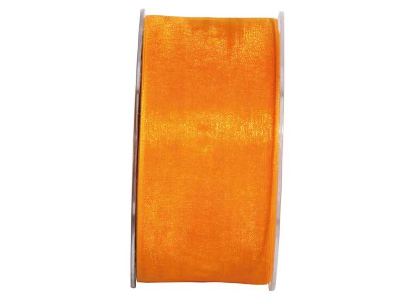 Dekoband Beauty-Organdy 40mm x 50m , Farbe Leucht-Orange