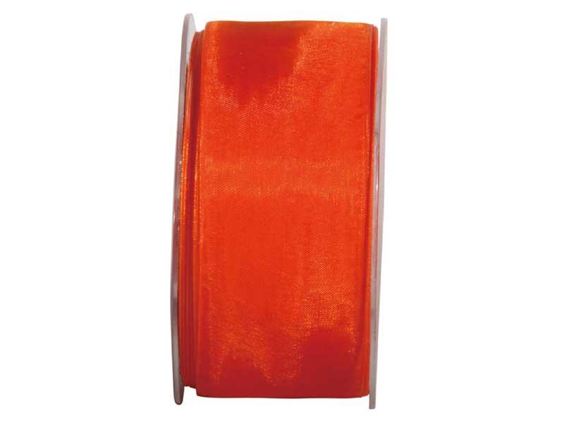 Dekoband Beauty-Organdy 40mm x 50m , Farbe Orange