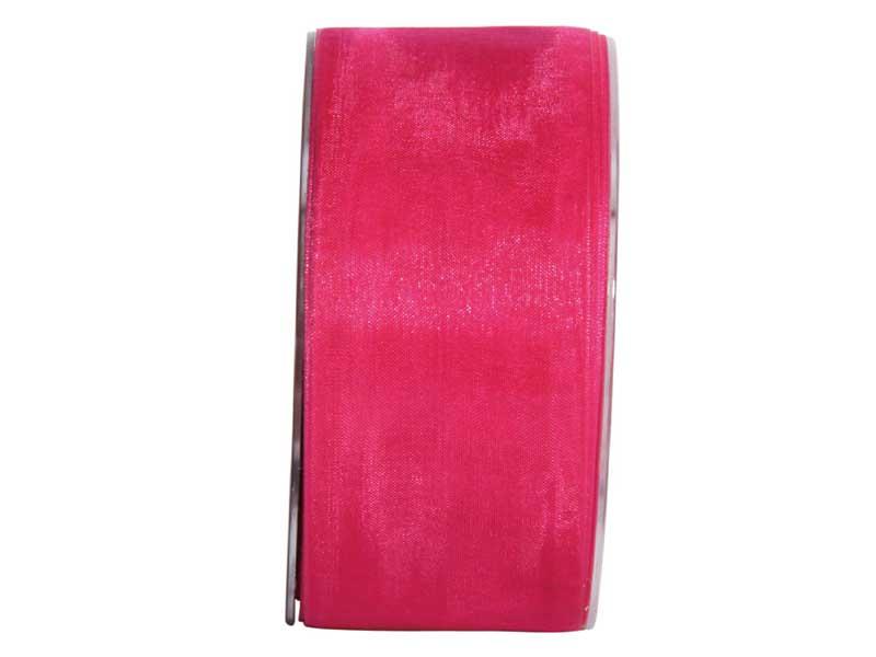Dekoband Beauty-Organdy 40mm x 50m , Farbe Pink