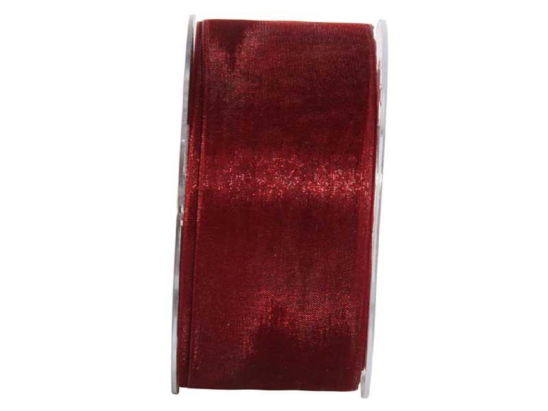 Dekoband Beauty-Organdy 40mm x 50m , Farbe Bordeaux