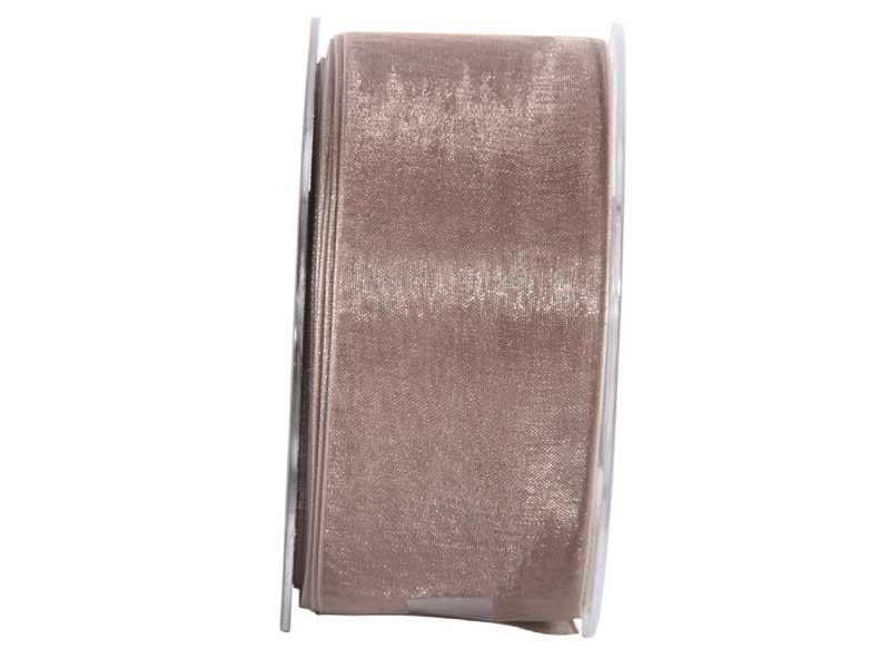Dekoband Beauty-Organdy 40mm x 50m , Farbe Grau