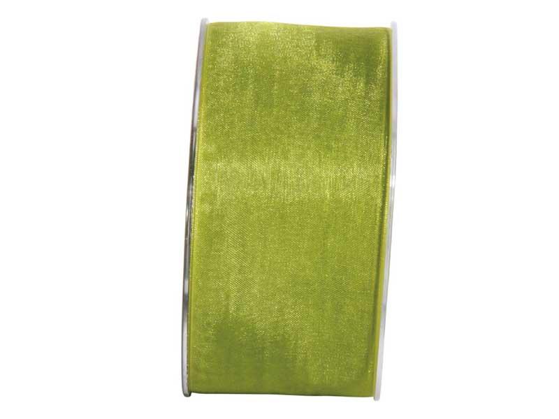 Dekoband Beauty-Organdy 40mm x 50m , Farbe Grün