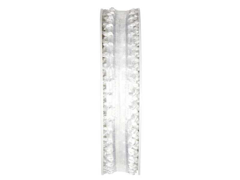 Spezielle Dekobänder Romatik in tollen Ausführungen Romantik - Weiss 12mm x 20m