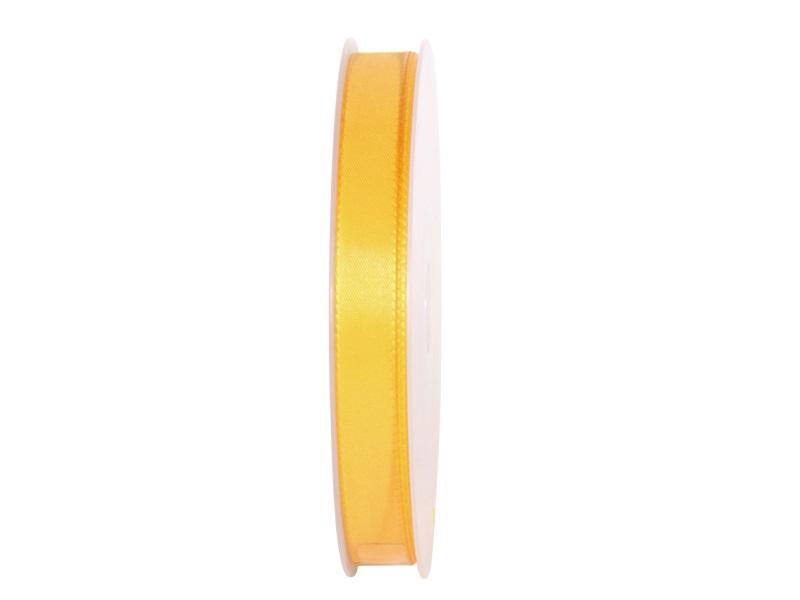 Dekoband Geschenkband Taftband Schleifenband - Länge 50m x15mm, Farbe Gelb