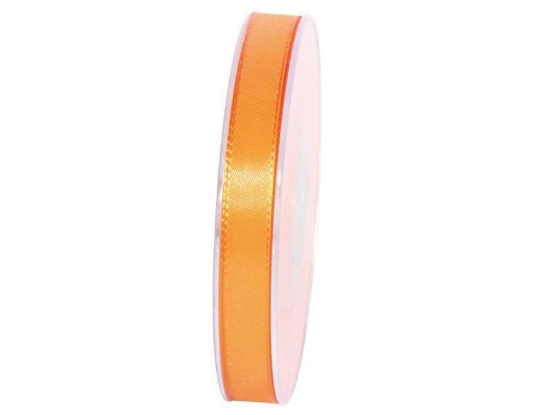 Dekoband Geschenkband Taftband Schleifenband - Länge 50m x15mm, Farbe Orange