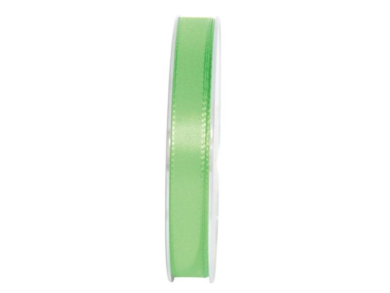 Dekoband Geschenkband Taftband Schleifenband - Länge 50m x15mm, Farbe Apfelgrün