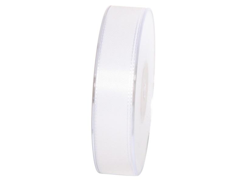 Dekoband Geschenkband Taftband Schleifenband- Länge 50m x25mm, Farbe Weiss
