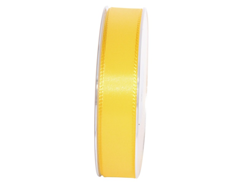 Dekoband Geschenkband Taftband Schleifenband- Länge 50m x25mm, Farbe Gelb