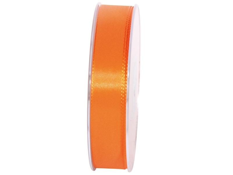 Dekoband Geschenkband Taftband Schleifenband- Länge 50m x25mm, Farbe Orange