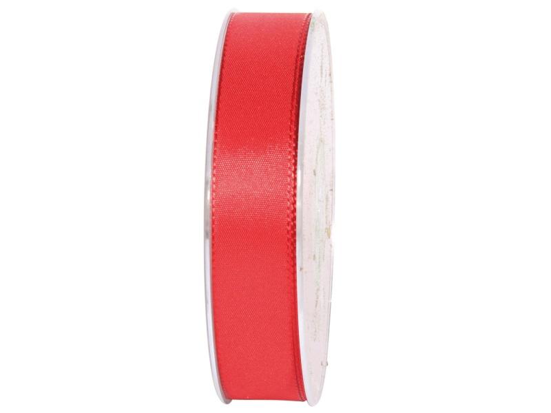 Dekoband Geschenkband Taftband Schleifenband- Länge 50m x25mm, Farbe Rot
