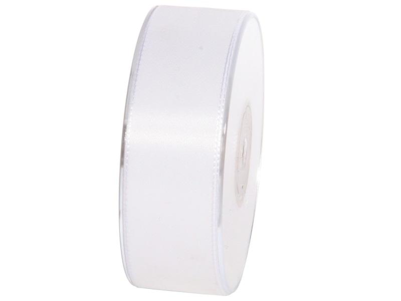 Dekoband Geschenkband Taftband Schleifenband - Länge 50m x 40mm, Farbe Weiss