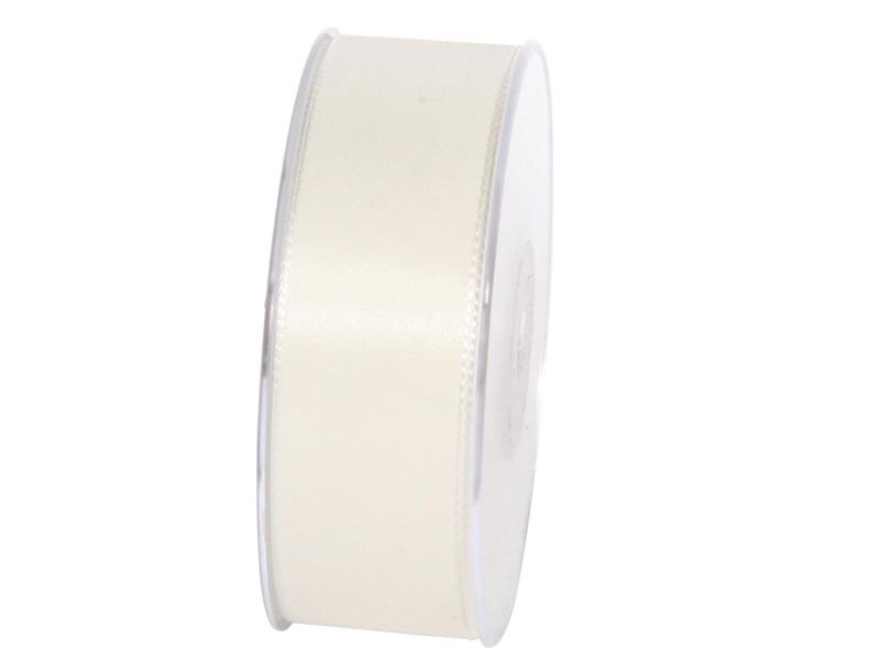 Dekoband Geschenkband Taftband Schleifenband - Länge 50m x 40mm, Farbe Creme