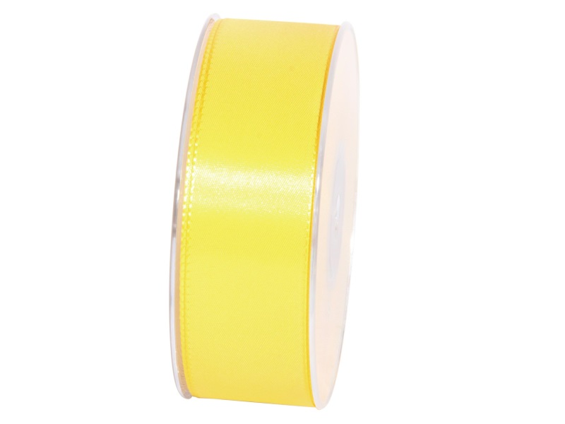 Dekoband Geschenkband Taftband Schleifenband - Länge 50m x 40mm, Farbe Hellgelb