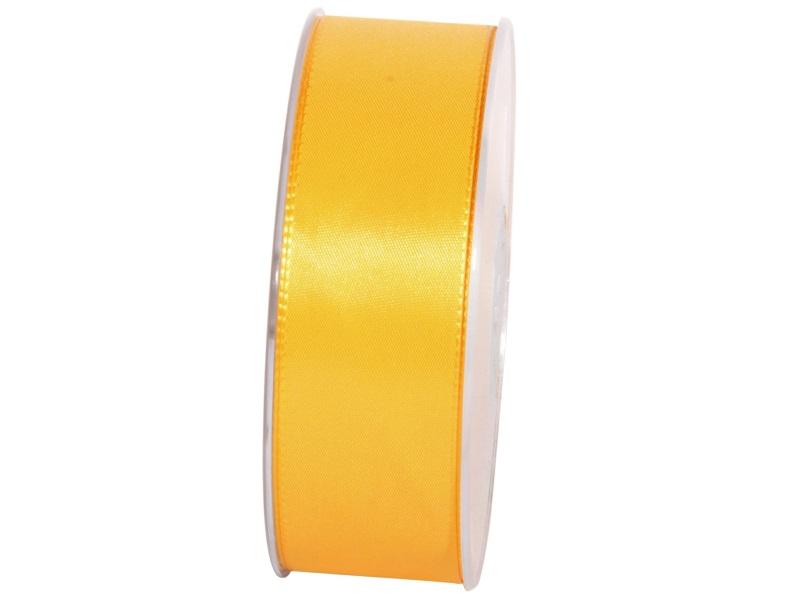 Dekoband Geschenkband Taftband Schleifenband - Länge 50m x 40mm, Farbe Gelb