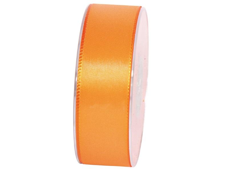 Dekoband Geschenkband Taftband Schleifenband - Länge 50m x 40mm, Farbe Orange
