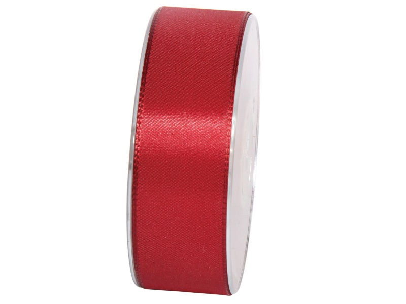 Dekoband Geschenkband Taftband Schleifenband - Länge 50m x 40mm, Farbe Bordeaux