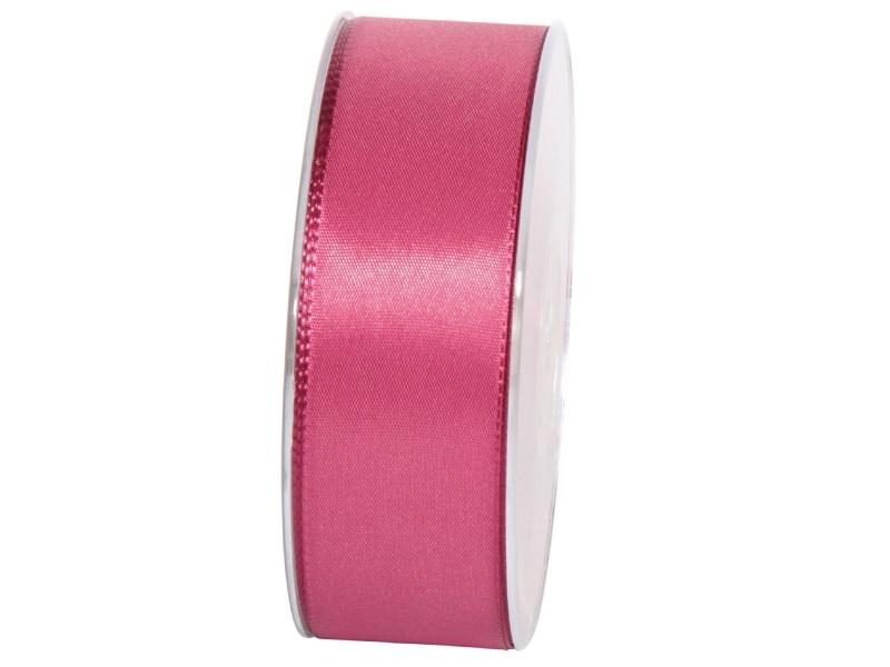 Dekoband Geschenkband Taftband Schleifenband - Länge 50m x 40mm, Farbe Fuchsia