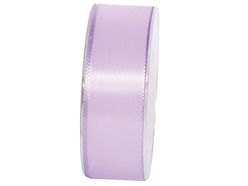 Dekoband Geschenkband Taftband Schleifenband - Länge 50m x 40mm, Farbe Flieder