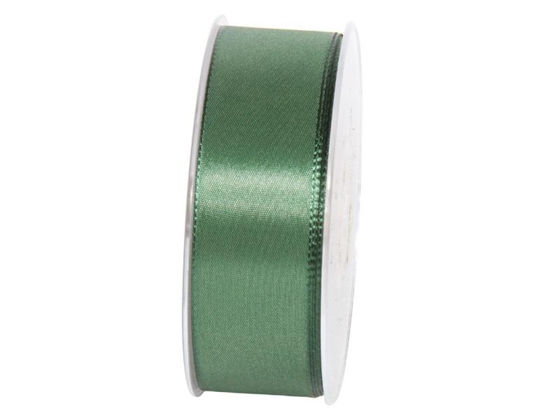 Dekoband Geschenkband Taftband Schleifenband - Länge 50m x 40mm, Farbe Dunkelgrün