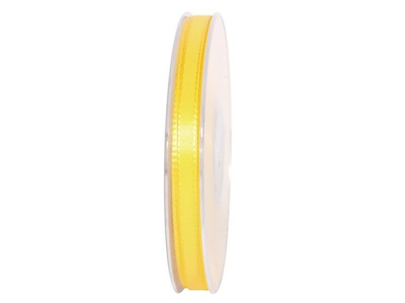 Dekoband Geschenkband Taftband Schleifenband - Länge 50m x 8mm, Farbe Hellgelb