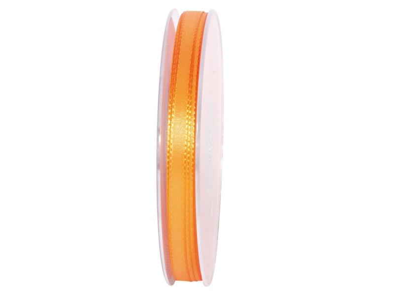 Dekoband Geschenkband Taftband Schleifenband - Länge 50m x 8mm, Farbe Orange