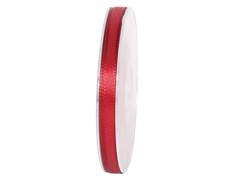 Dekoband Geschenkband Taftband Schleifenband - Länge 50m x 8mm, Farbe Bordeaux