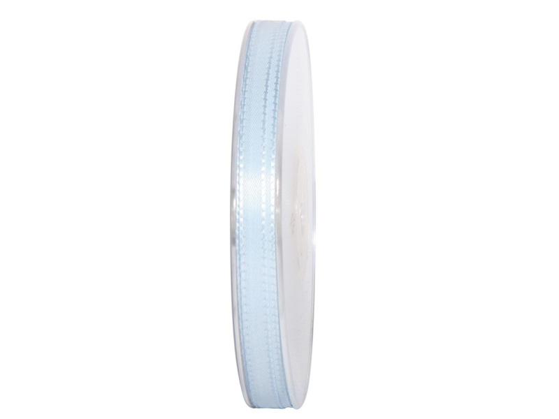 Dekoband Geschenkband Taftband Schleifenband - Länge 50m x 8mm, Farbe Hellblau