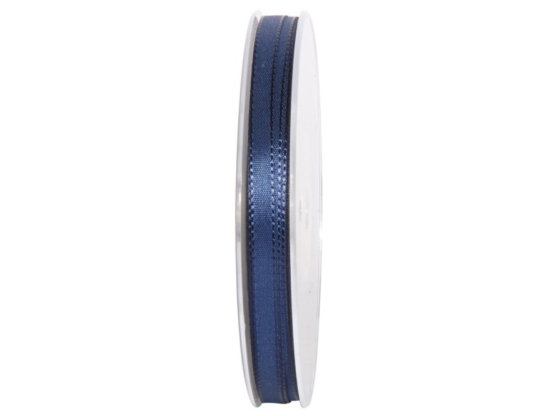 Dekoband Geschenkband Taftband Schleifenband - Länge 50m x 8mm, Farbe Dunkelblau