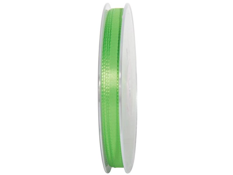 Dekoband Geschenkband Taftband Schleifenband - Länge 50m x 8mm, Farbe Apfelgrün