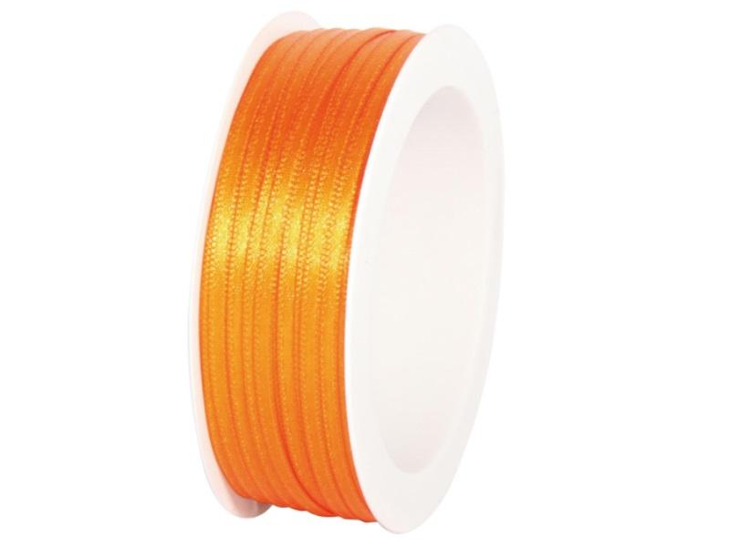 Satinband - Dekoband Geschenkband - Länge 50m x  3mm Orange