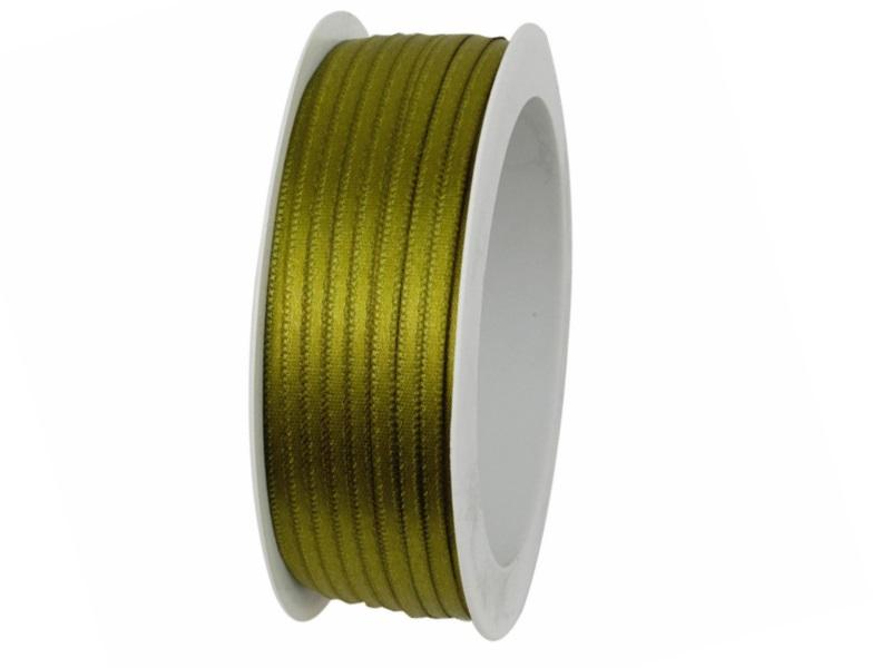 Satinband - Dekoband Geschenkband - Länge 50m x  3mm Oliv