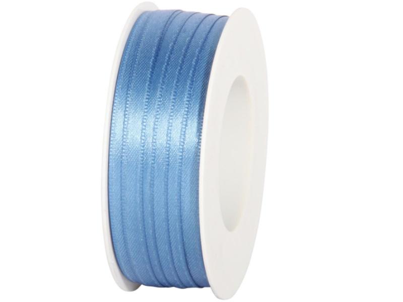 Satinband - Dekoband Geschenkband - Länge 50m x  6mm Blau