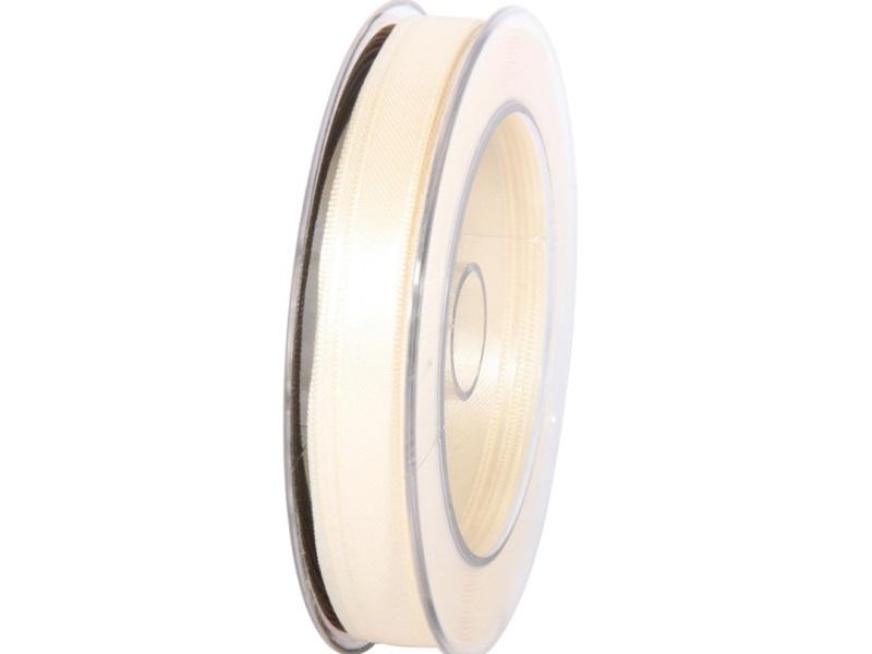 Satinband - Dekoband Geschenkband - Länge 25m x  10mm Creme